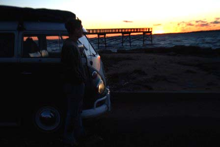 Me (polo) and my 1965 VW Kombi, sunset at LHP 10/29/2007